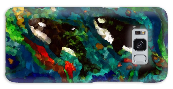 Whales At Sea - Orcas - Abstract Ink Painting Galaxy Case