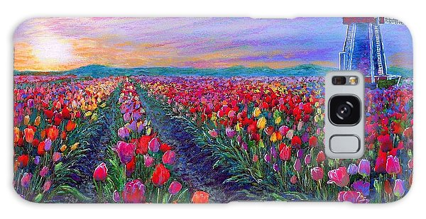 Blossoms Galaxy Case -  Tulip Fields, What Dreams May Come by Jane Small