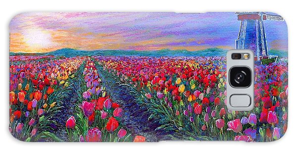 Impressionism Galaxy Case -  Tulip Fields, What Dreams May Come by Jane Small
