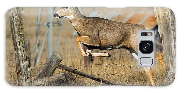 White-tailed Deer Galaxy Case - What Fence by Mike  Dawson