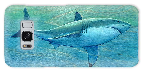 Sharks Galaxy Case - What Lurks Below by Nathan Ledyard
