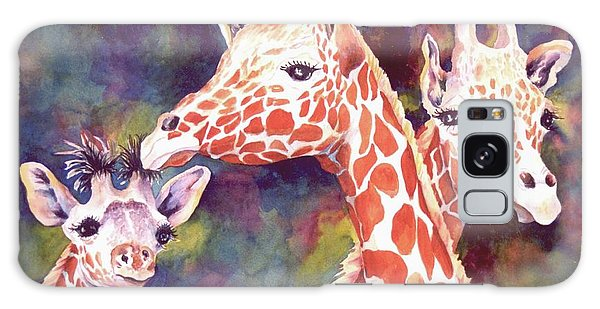 What's Up Dad - Giraffes Galaxy Case by Roxanne Tobaison
