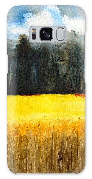 Wheat Field 1 Galaxy Case by Carlin Blahnik