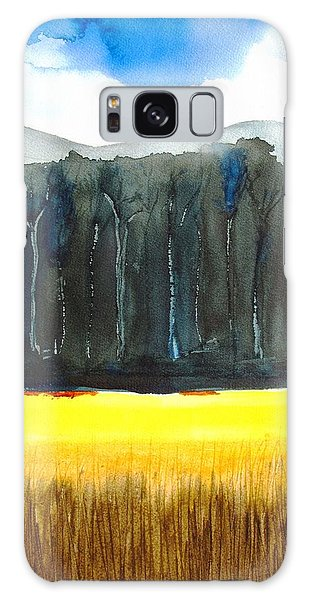 Wheat Field 2 Galaxy Case by Carlin Blahnik
