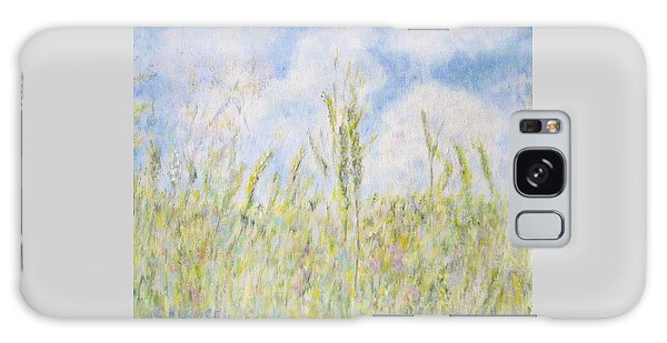 Wheat Field And Wildflowers Galaxy Case