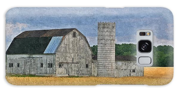 Wheat Field Barn Galaxy Case