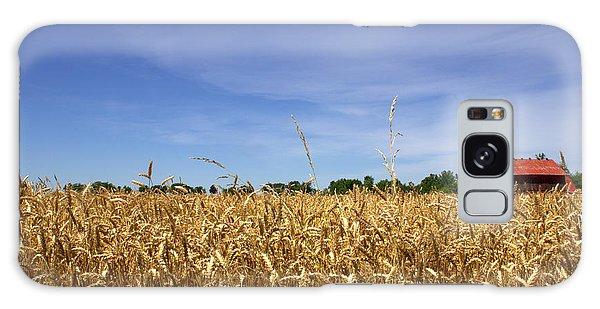 Wheat Field II Galaxy Case by Beth Vincent