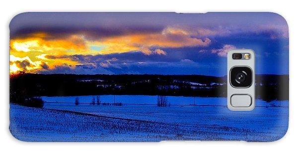 Wheat Field In Winter Galaxy Case
