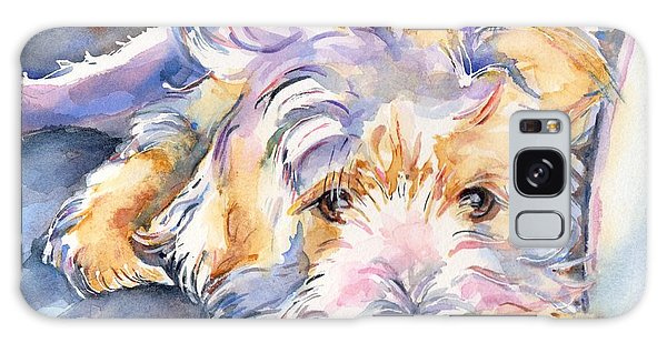 Watercolor Pet Portraits Galaxy Case - Wheaten Terrier Painting by Maria's Watercolor