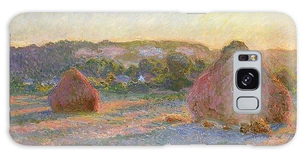 Art Institute Galaxy S8 Case - Wheatstacks by Claude Monet