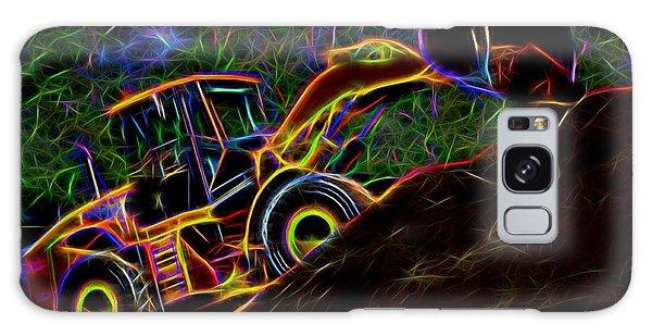 Wheel Loader Moving Dirt - Neon Galaxy Case