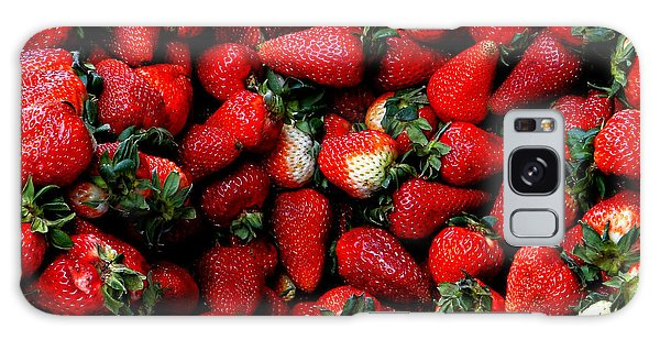 Wheelbarrow Of Strawberries Galaxy Case