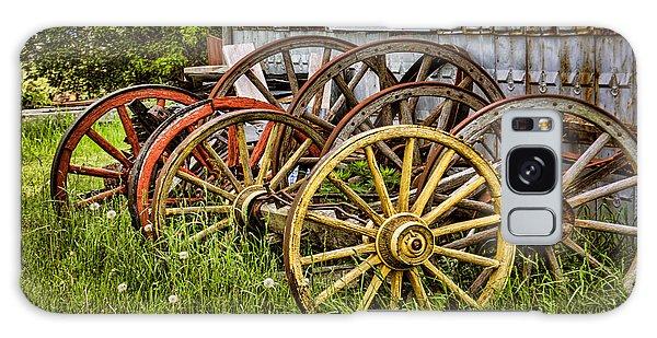 Wheels At Rest Galaxy Case by Gerda Grice