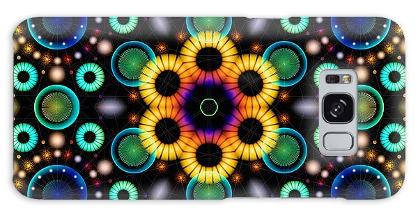 Galaxy Case featuring the digital art Wheels Of Light by Derek Gedney