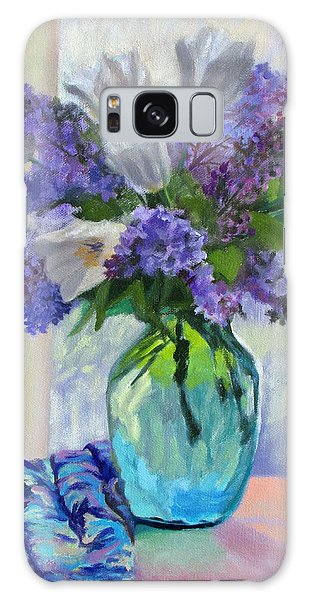 When Lilacs Bloomed Galaxy Case
