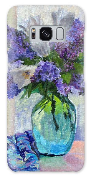 When Lilacs Bloomed Galaxy Case by Bonnie Mason