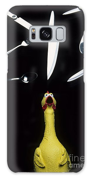 When Rubber Chickens Juggle Galaxy Case by Bob Christopher