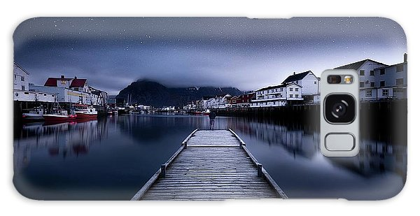 Docked Boats Galaxy Case - When The Night Comes Falling From The Sky by Lior Yaakobi