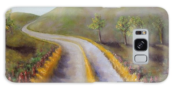 Autumn Road Galaxy Case by Laurie Morgan