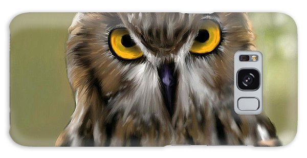 The Gaze Of An Owl - Where's My Dinner?  Galaxy Case by Ron Grafe