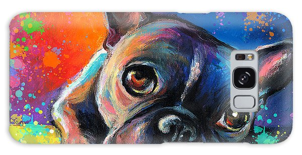 Whimsical Colorful French Bulldog  Galaxy Case