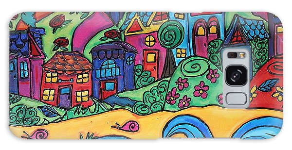 Whimsical Town Sectional  Galaxy Case by Cynthia Snyder