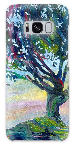 Whimsical Tree Pastel Sky Galaxy Case by Denise Hoag