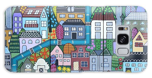 Whimsical Village Galaxy Case