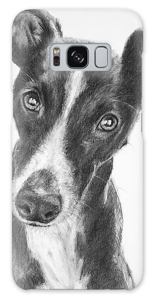 Whippet Black And White Galaxy Case