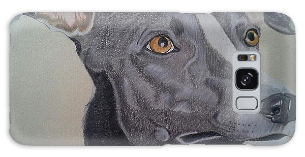 Whippet - Grey And White Galaxy Case by Anita Putman