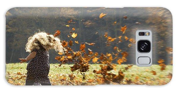 Whirling With Leaves Galaxy Case by Carol Lynn Coronios