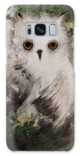 Whisper The Snowy Owl Galaxy Case