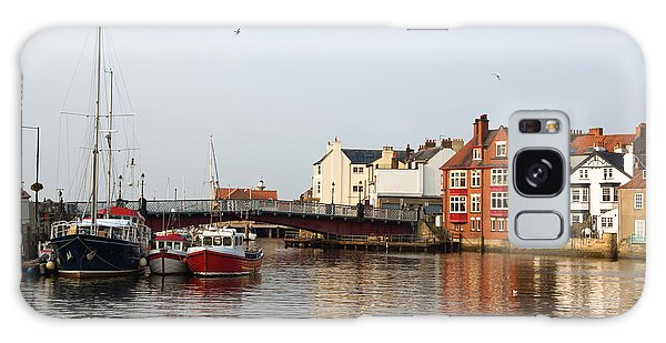 Whitby Harbour Galaxy Case by Jane McIlroy