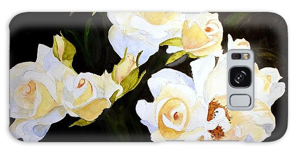White And Yellow Roses Galaxy Case by Carol Grimes