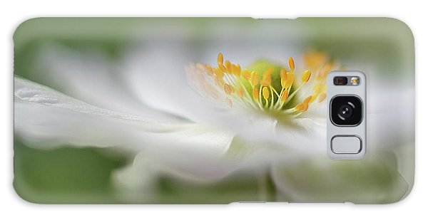 Soft Galaxy Case - White Anemone by Mandy Disher