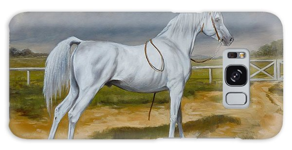 White Arabian Stallion Galaxy Case
