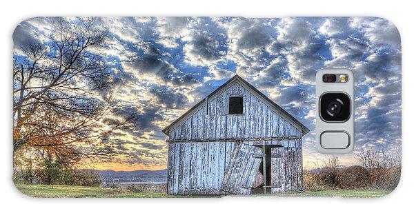 White Barn At Sunrise Galaxy Case