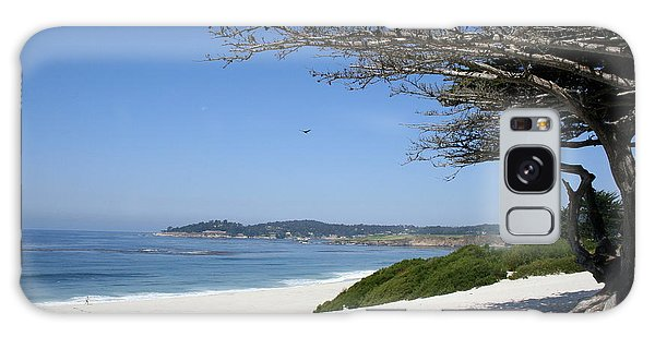 White Beach At Carmel Galaxy Case