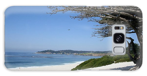 White Beach At Carmel Galaxy Case by Christiane Schulze Art And Photography