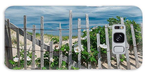 White Beach Roses Galaxy Case