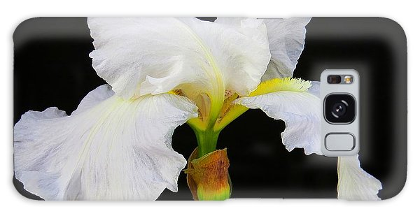 White Bearded Iris Galaxy Case