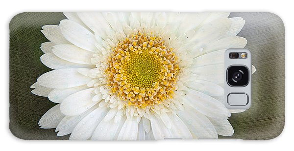 White Bergera Daisy 1 Galaxy Case by Sally Simon