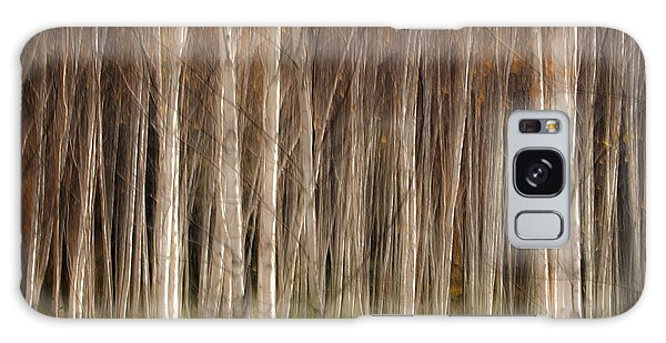 White Birch Abstract Galaxy Case by John Vose