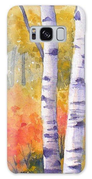 White Birches In Autumn Galaxy Case