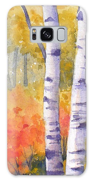 White Birches In Autumn Galaxy Case