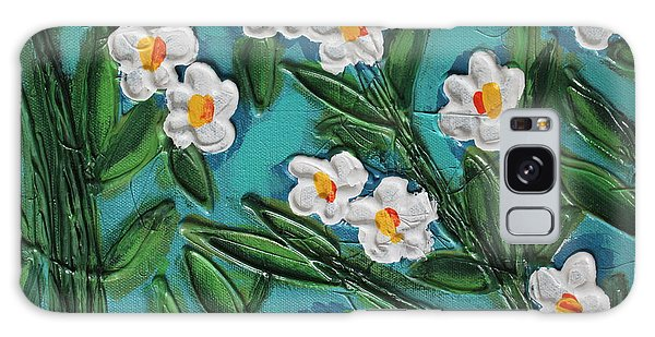 White Blooms 2 Galaxy Case by Cynthia Snyder