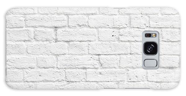 White Brick Wall Galaxy Case