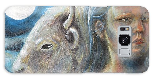 White Buffalo Portrait Galaxy Case