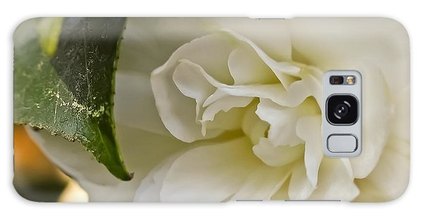 White Camellia 1 Galaxy Case
