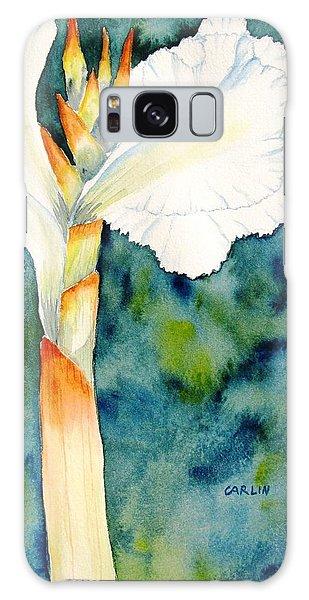 White Canna Flower Galaxy Case by Carlin Blahnik